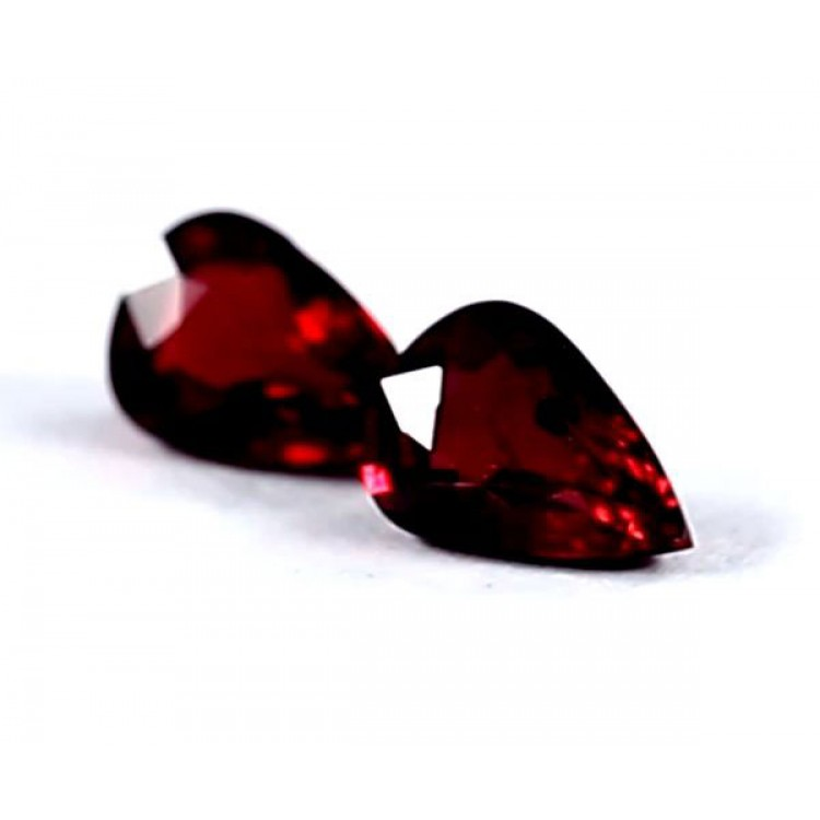 """GRS Certified 3.18 ct. Untreated """" PIGEONS BLOOD """" Ruby Pair- Mozambique"""